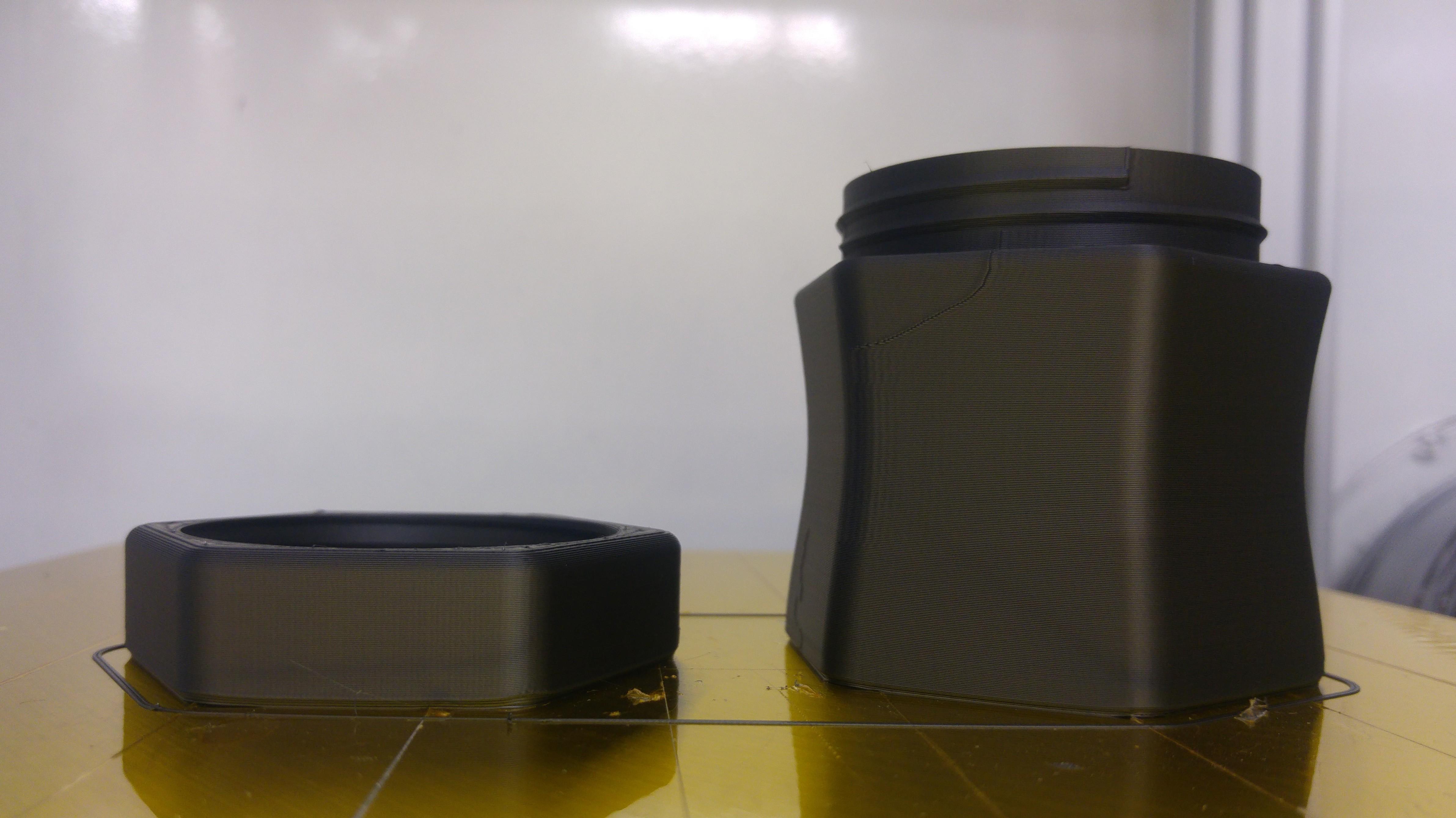 Graphene enhanced PLA twisted bottle